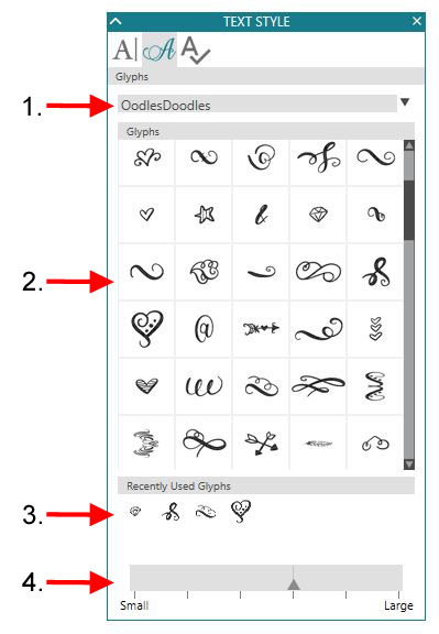 Glyphs detailed copy