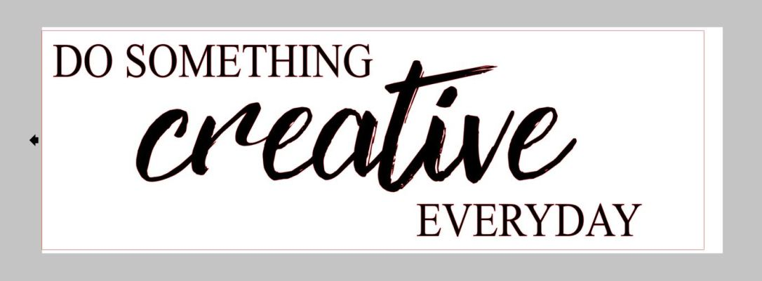 Creative cut