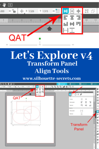 Transform Panel - Align Tab Pin