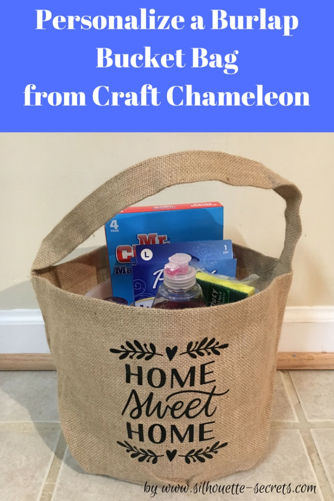 Burlap Bucket Bag - Craft Chameleon
