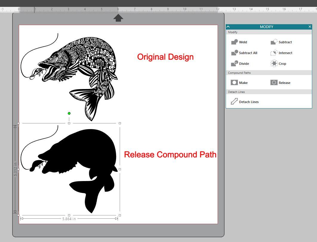 Fish compound path demo