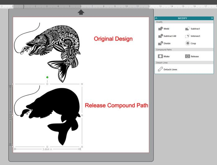Fish compound path demo
