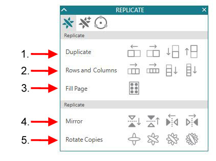 Replicate panel detailed copy