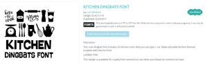 Kitchen Dingbats by LW