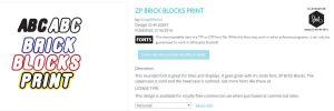 ZP Brick Blocks Print