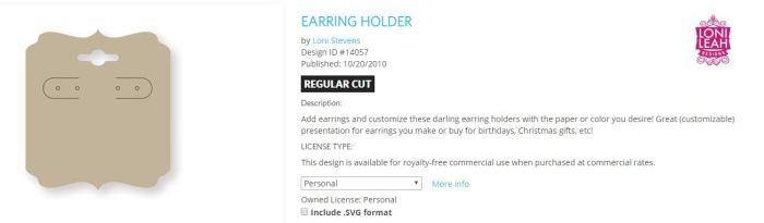 Earring holder file