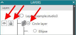 Eye and lock option copy