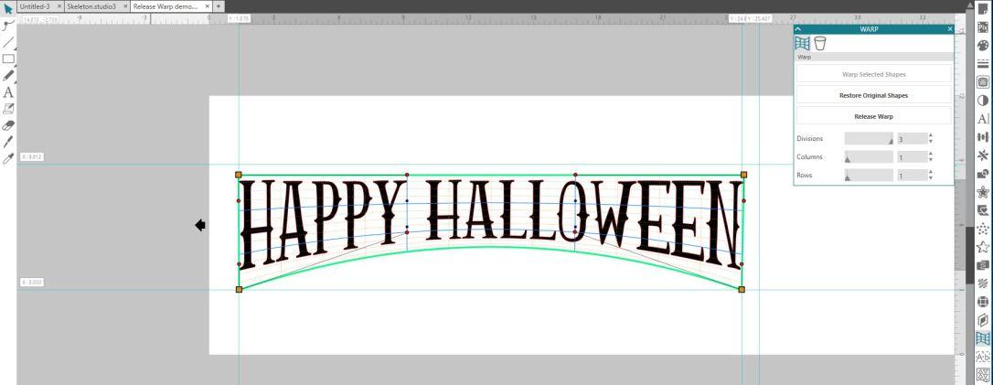 Happy Halloween warp