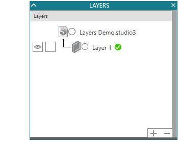 Layers panel beginning