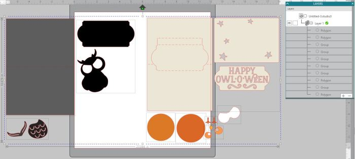 Owl o ween card layers ungrouped
