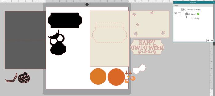 Owl o ween card layers