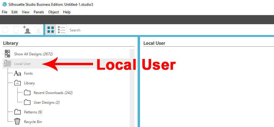 Local User copy
