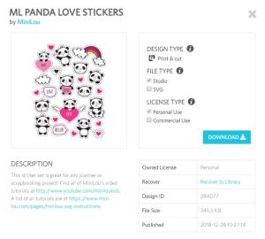 panda love stickers