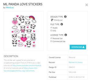 panda love stickers