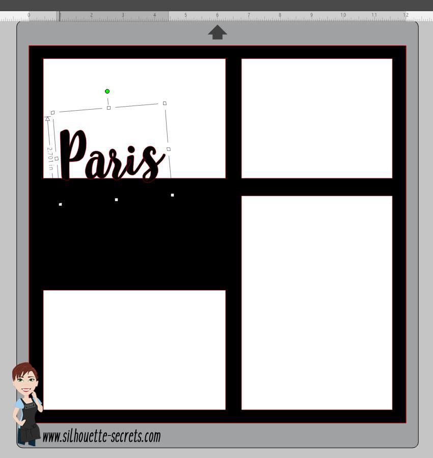 Paris text position copy