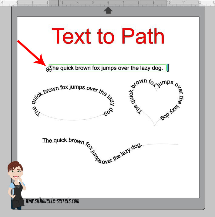 Text to Path photo copy