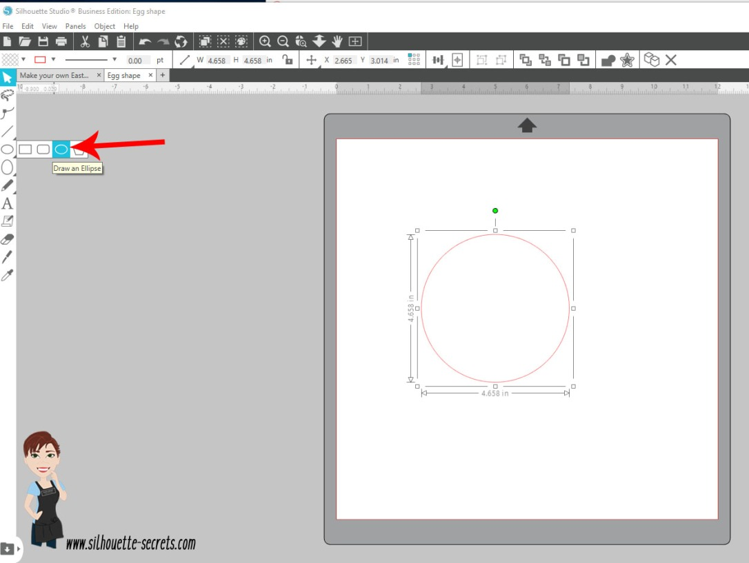 Draw Ellipse tool copy
