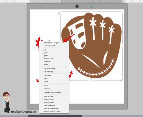 Right Click Original Shape selected copy