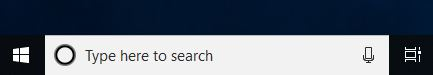 Windows search bar