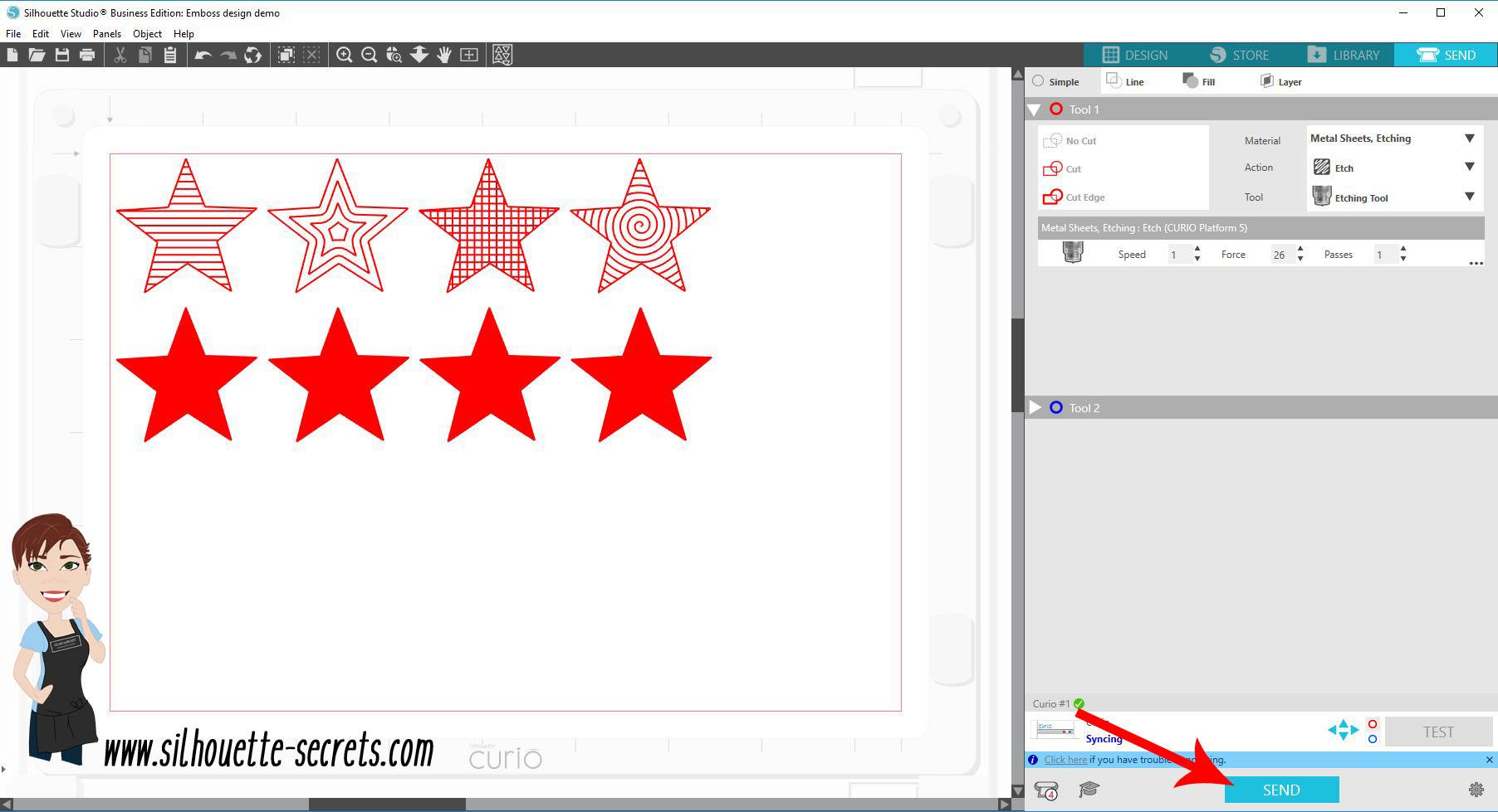 Click Send copy
