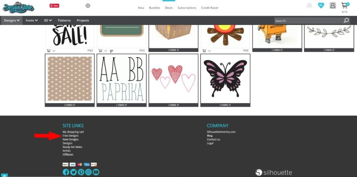 Free designs category