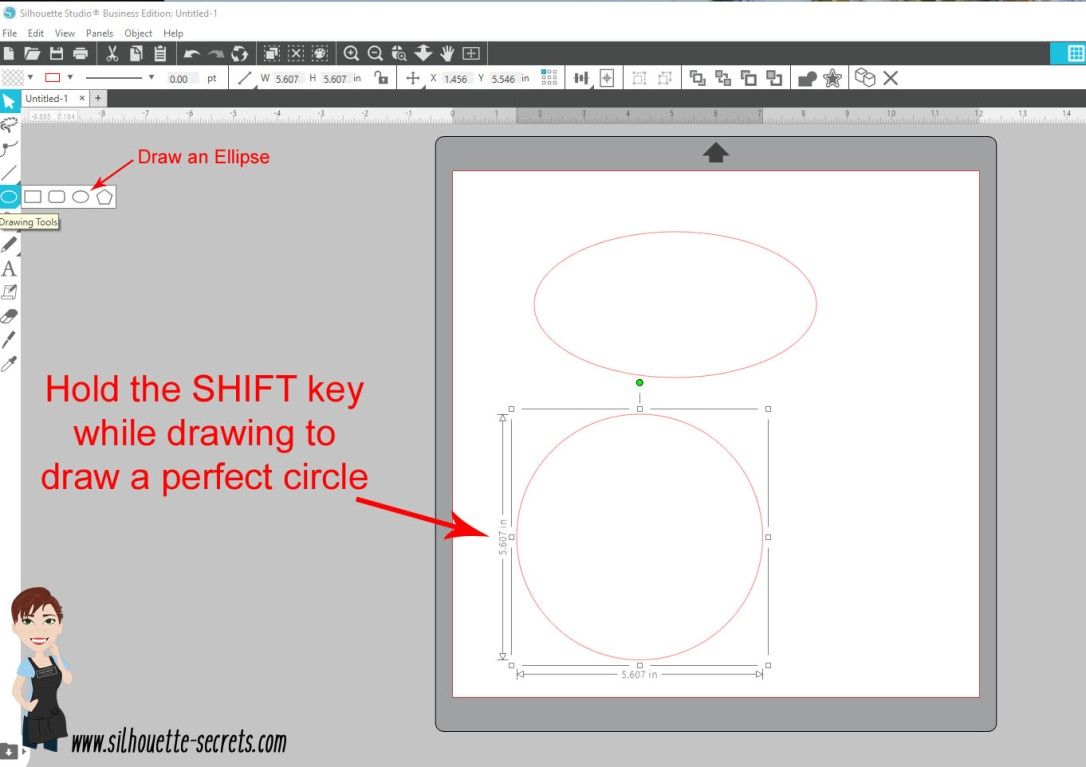 Draw an ellipse copy
