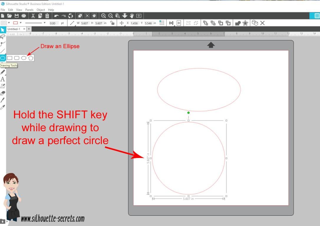Draw an ellipse copy