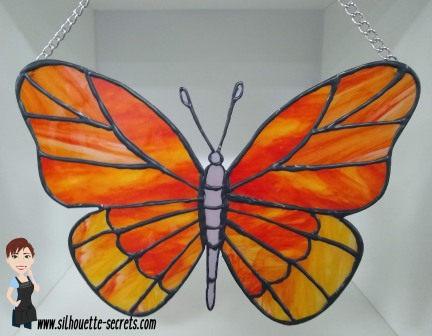 Faux Stained glass butterfly copy