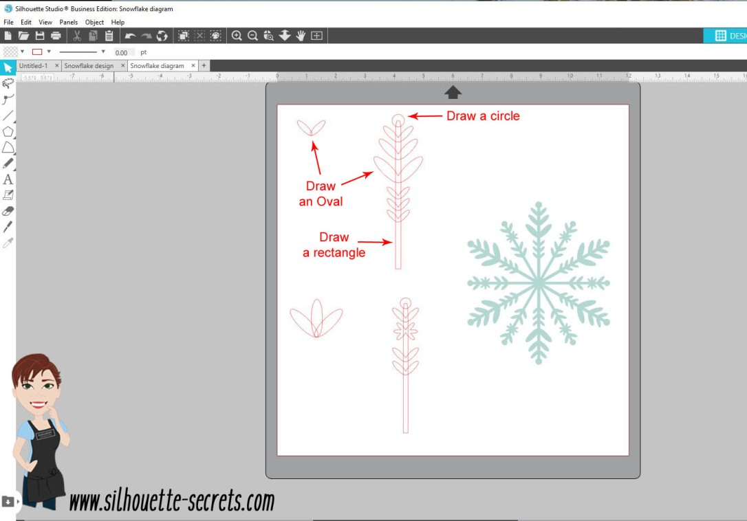 Snowflake design copy