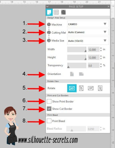 Page Setup Panel details copy