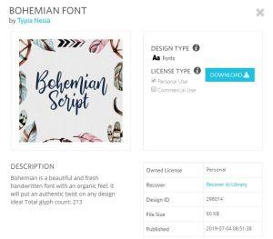 Bohemian Script